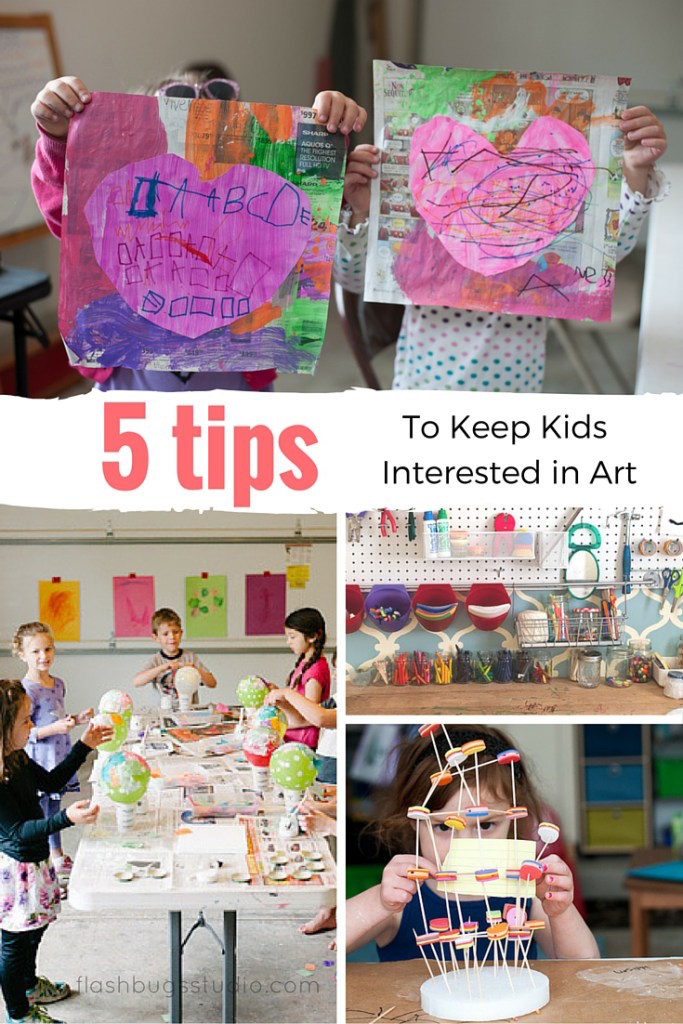 Don't let your child's creativity fall by the wayside. Try these five easy tips to keep kids engaged in art and creativity.
