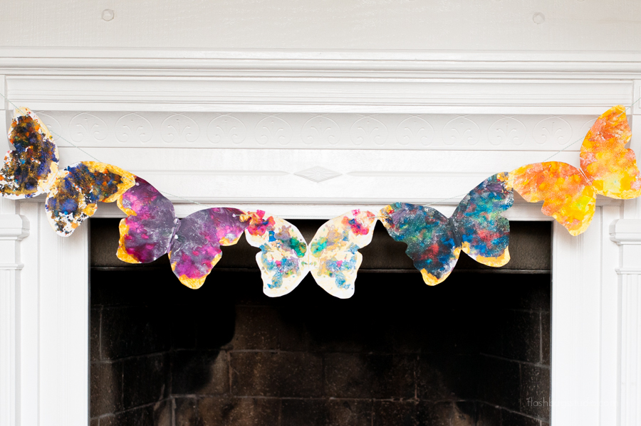 Make an easy and adorable DIY melted crayon butterfly project perfect for any age.