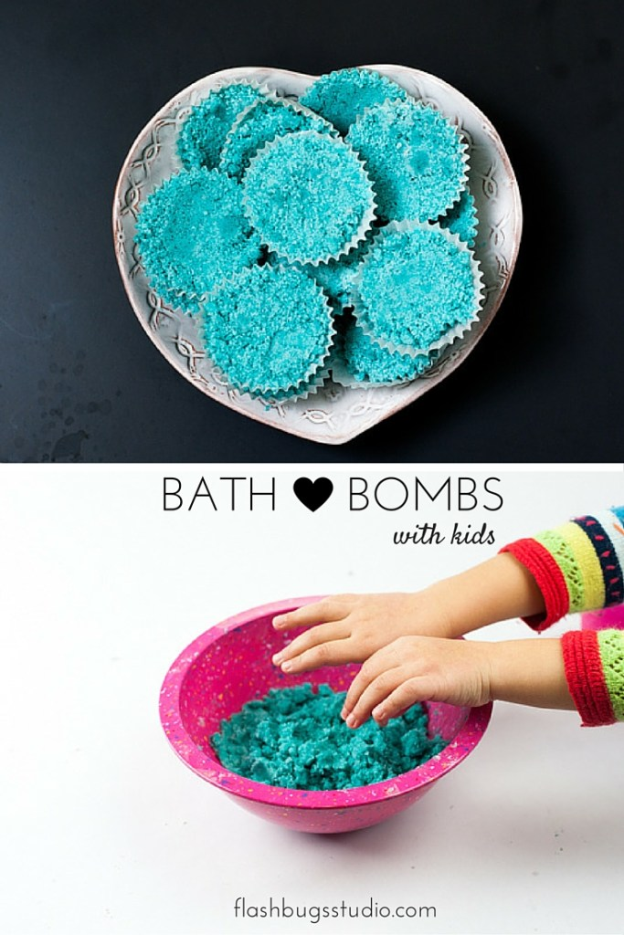 Make homemade bath bombs with kids