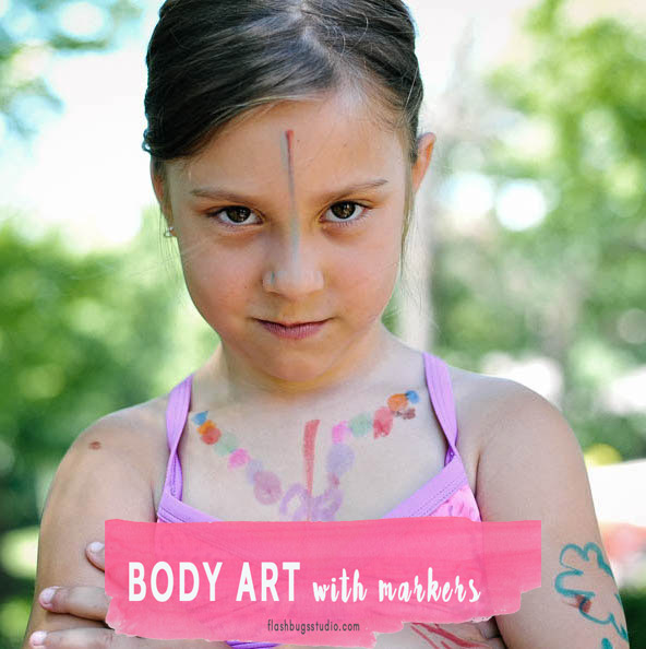 Body Art Drawing With Kids And Markers