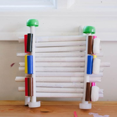 How to host a fun playdate with boys by making recycled sculptures.