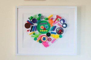 Organize and Recycle Toys: Make Simple Heart Art With Kids