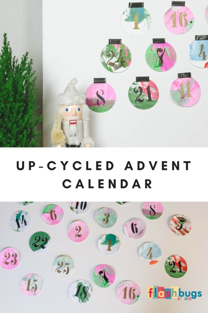 Up-cycle old children's artwork to make a unique advent calendar.