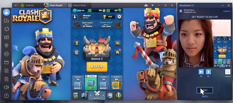 Bluestacks-facebook-live