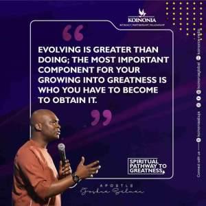 SPIRITUAL PATHWAY TO GREATNESS - Koinonia Abuja with Apostle Joshua Selman Nimmak