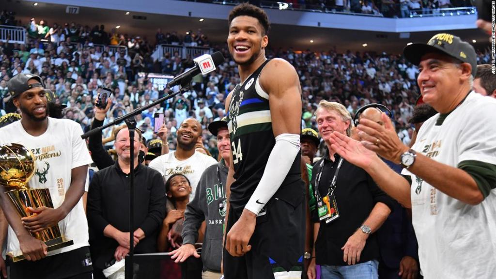 Giannis Antetokounmpo wants his NBA Finals heroics to inspire others to 'believe in their dreams'