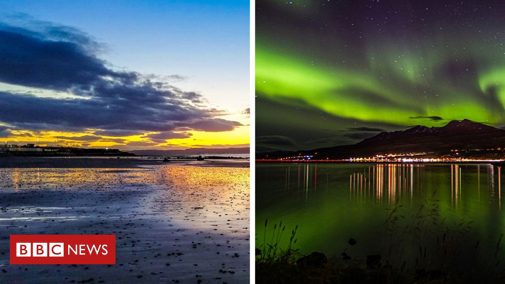 In pictures: Seaside photos taken 800 miles apart