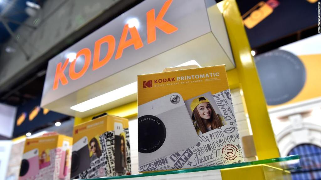 Kodak's Printomatic instaprint cameras are displayed at the Kodak booth during CES 2018 at the Las Vegas Convention Center on January 10, 2018 in Las Vegas, Nevada. CES, the world's largest annual consumer technology trade show, runs through January 12 and features about 3,900 exhibitors showing off their latest products and services to more than 170,000 attendees.  (Photo by David Becker/Getty Images)
