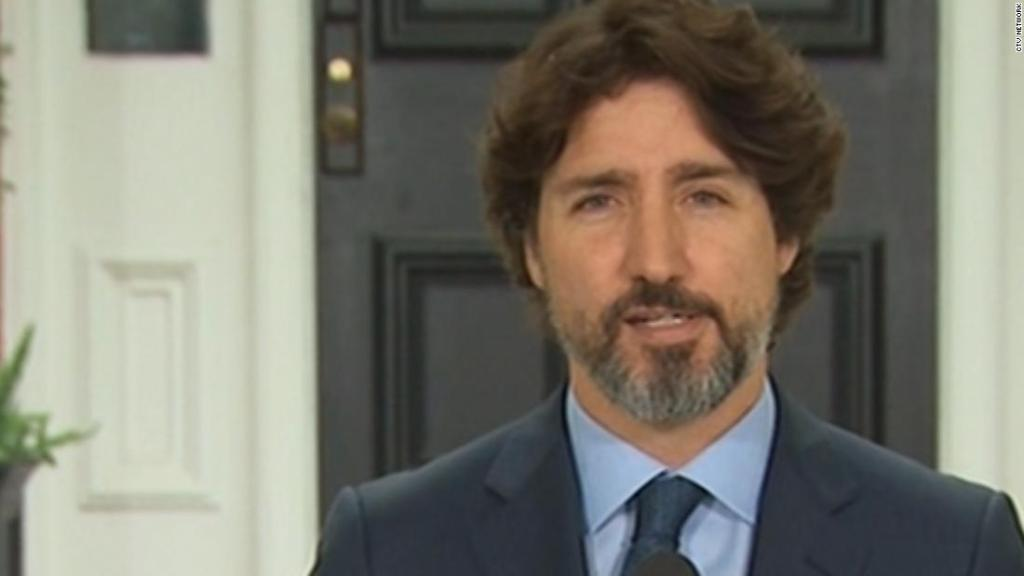Trudeau silent for 20 seconds when asked about US protests