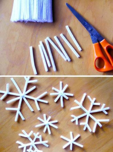 pipecleanersnowflakes