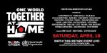 ONE WORLD TOGETHER AT HOME – le voci di tutto il Mondo si uniscono in un unico coro di speranza