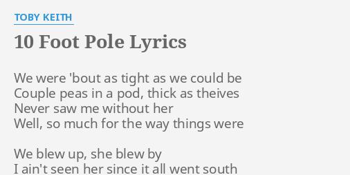 10 foot pole lyrics