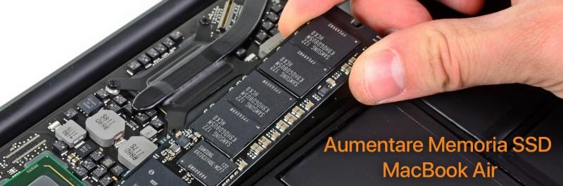 aumentare memoria macbook air Sostituzione disco SSD MacBook Air