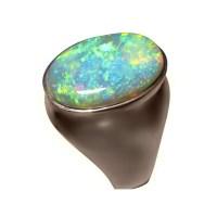 Big Mens Opal Ring 14k Gold 6 Carat Oval - Opal Rings Men ...