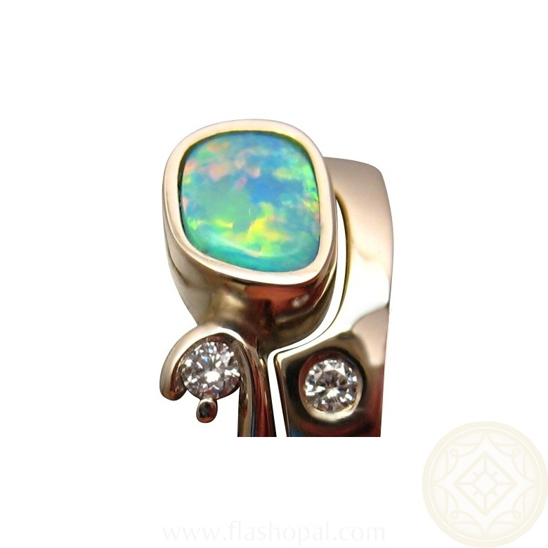 Opal Engagement Wedding Ring Diamonds Opal Rings FlashOpal