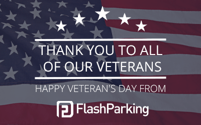 Happy Veteran's Day From FlashParking