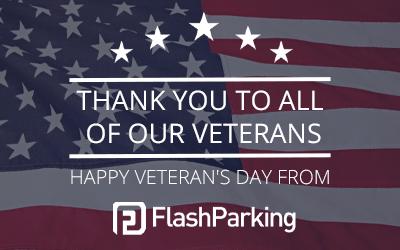 Happy Veteran's Day From FlashParking