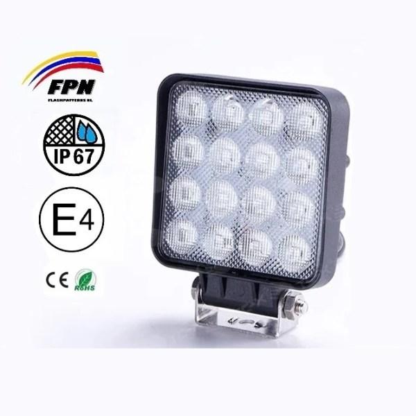 ZRM 48W Hoog Kwaliteit Werklamp Vierkant flashpatterns nederland