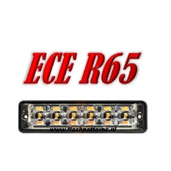 Led flitser SSLT6 – 6 X 3 WATT ECER65 12/24V