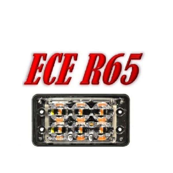 SSLT6D Led flitser 6 X 3 WATT, ECER65 12/24V