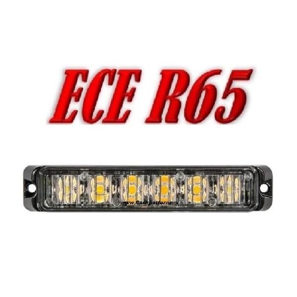 T6 Pro LED Flitser ECER65 ECER10 12/24V – Led Kleur Blauw of Amber