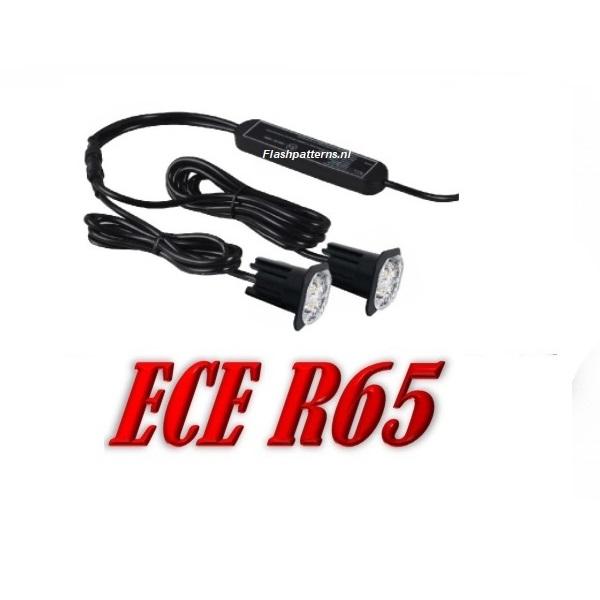 X4T-SR65 Led Flitser Set ECER65 12/24V