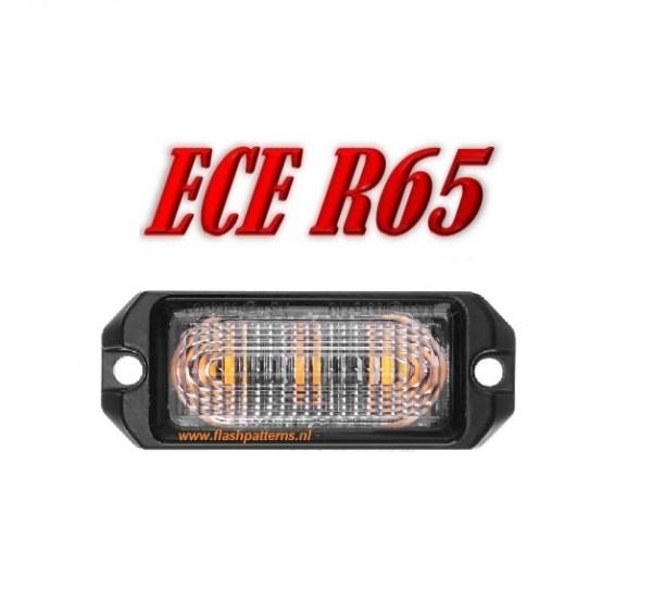 R3 Led Flitser ECER65 3 X 5 Watt Hoog Intesiteit leds Super Fel Amber of Groen 12/24V