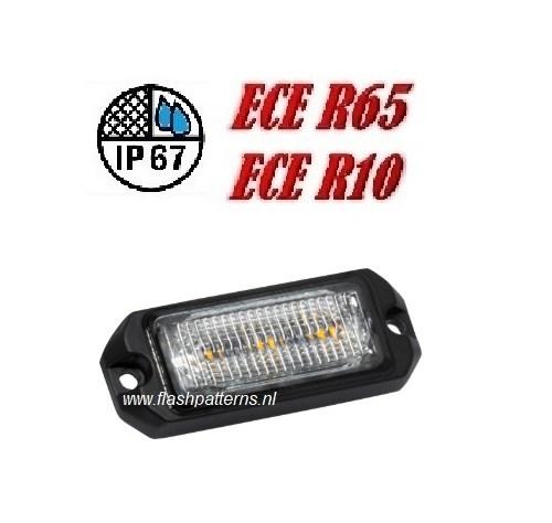ECO ALERT 3x5w Led Flitser ECER65 HOOG INTENSITEIT LEDS amber new6