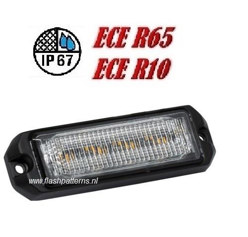 ECO ALERT 4x5w Led Flitser ECER65 HOOG INTENSITEIT LEDS amber new4