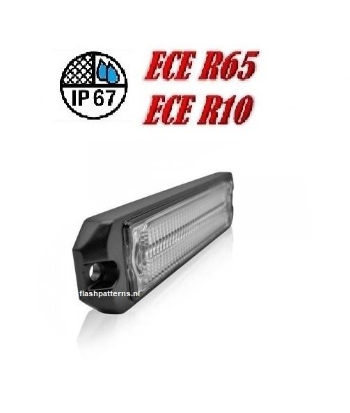 ECO ALERT 5w Leds Flitser ECER65 HOOG INTENSITEIT LEDS sku1060 slant