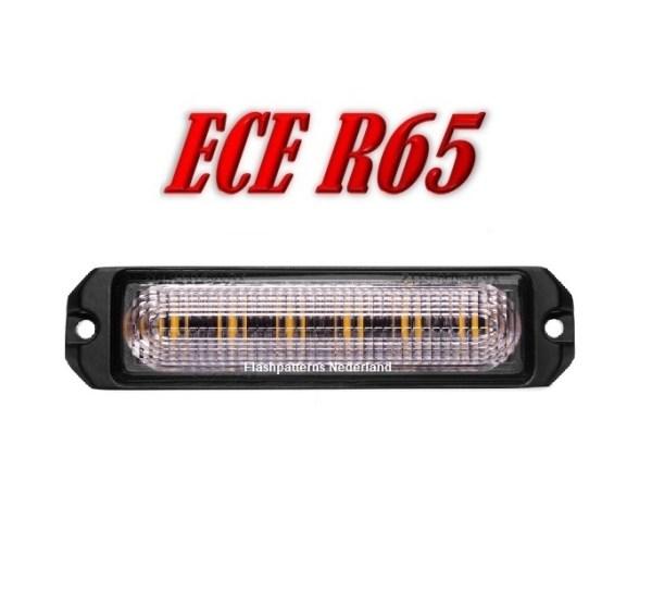 R6 Led Flitser ECER65 Super Fel 6 x 5 Watt Hoog Intensitiet Leds 12-24V