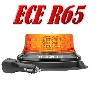 extreem r65 zwaailamp magneet montage oranje