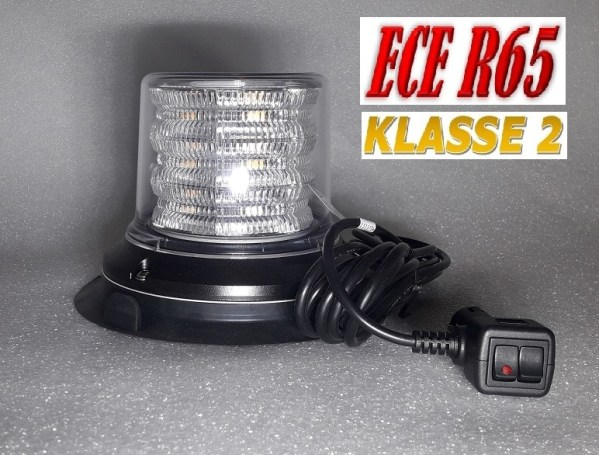 HYBRIDE LED ZWAAILAMP ECE-R65 KLASSE 2 12-24V WITH CLEAR LENS PIC