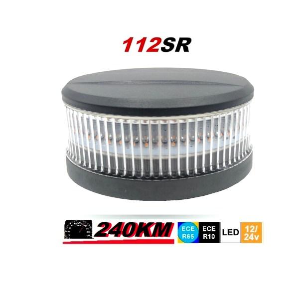 112SR 240 km uur magneet mont super fel led zwaailamp flashpatterns.nl