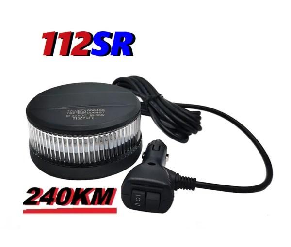 112SR 240 km uur magneet montage ECER65 klasse2 super fel led zwaailamp with switch