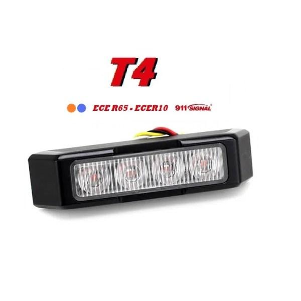 911 Signal Top Kwaliteit T4 LED Flitser 4 x 3 watt ECER65 IP67 12/24V 5 jaar Garantie Aanbieding !!!