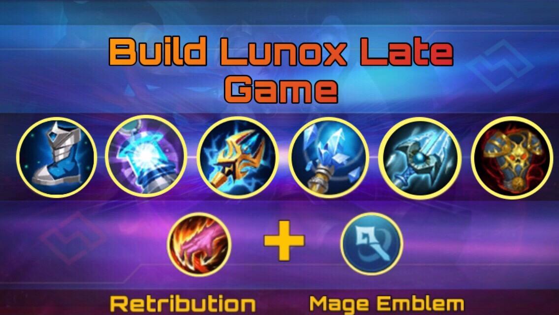 Build item lunox late game Mobile Legends