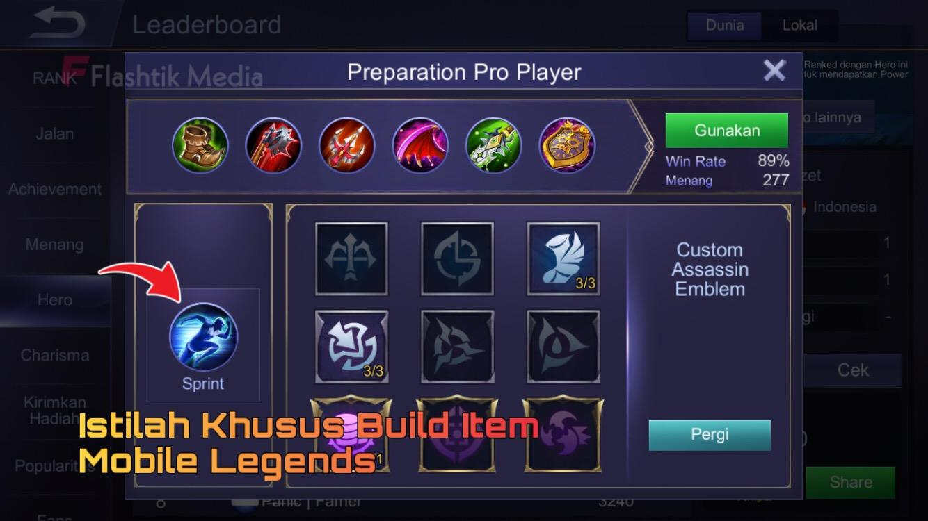 Istilah build item dalam mobile legends