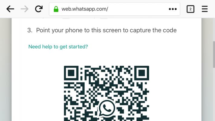 Scan barcode WhatsApp di hp