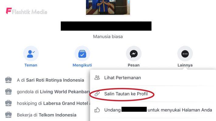 Cara hack link profil Facebook orang
