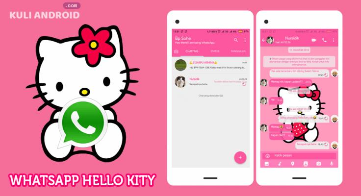 Tema WhatsApp Hello Kitty Terbaru