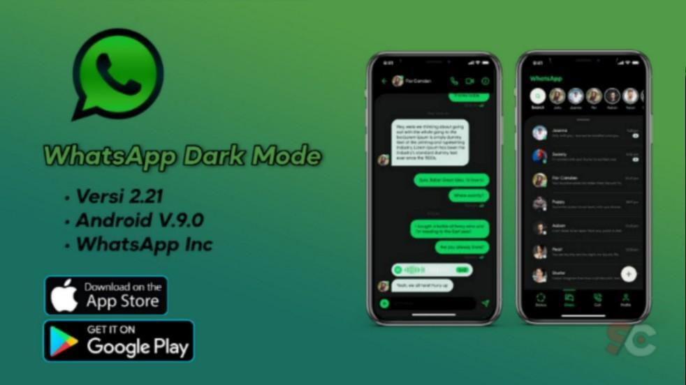Cara aktifkan dark mode pada whatsapp