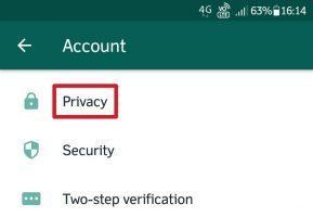 Menu privacy whatsapp