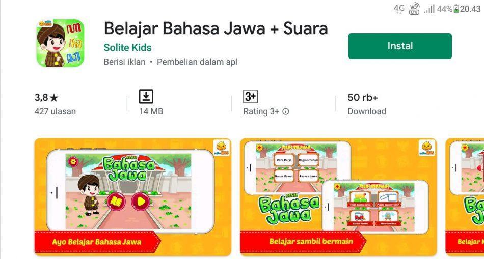 Aplikasi ubah bahasa jawa