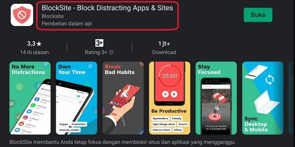 Aplikasi BlockSite