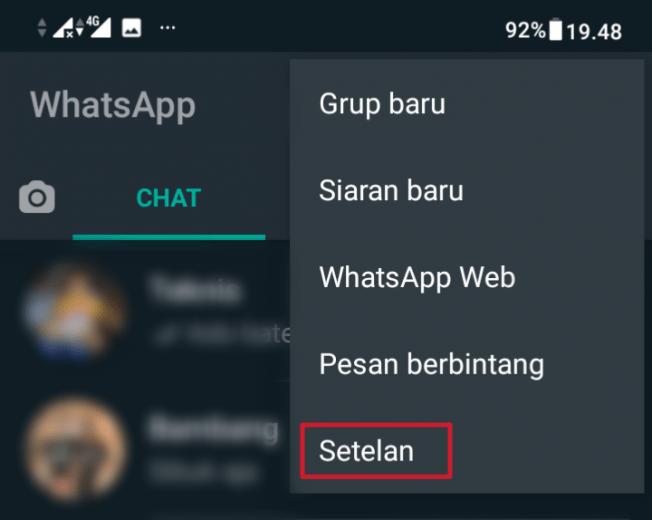 pengaturan whatsapp panggilan