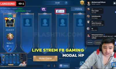 cara live stream facebook gaming di hp