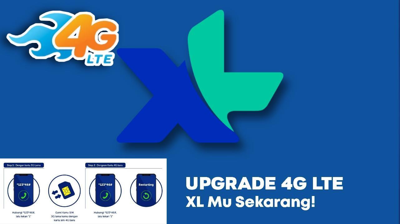 cara upgrade 4G XL