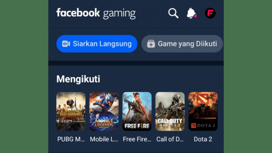 live streaming facebook gaming