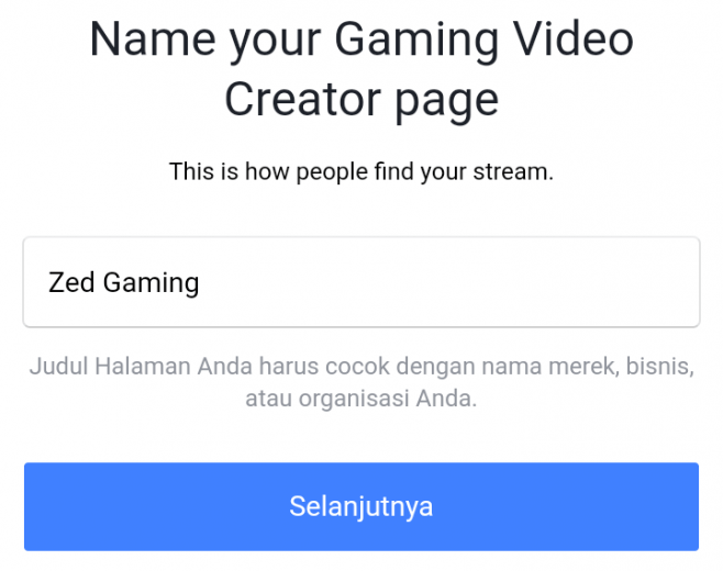 membuat akun fanspage gaming